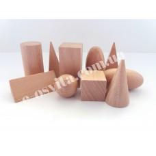 Набір лабораторних моделей геометричних тіл та фігур (дерево) роздатковий