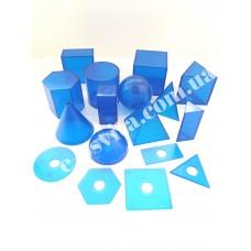 Набір моделей геометричних тіл (кольоровий пластик)