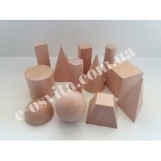 Набір демонстраційних моделей геометричних тіл та фігур (дерево)