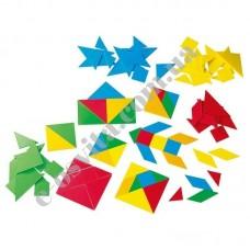 """Навчальний набір """"Танграм"""" 105 частин, (15 танграмів), пластик"""