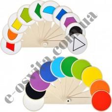 Віяло кольорів і геометричних фігур