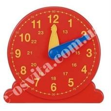 Лабораторна модель механічного годинника, настільна (24 години, годинна, хвилинна стрілки, роздавальна)